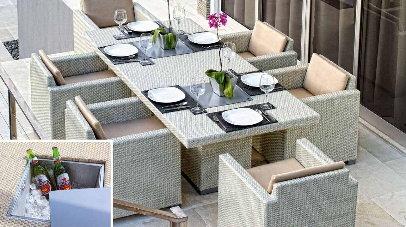 Conjunto jantar pacific ao melhor pre o na gra a for Mobiliario de exterior