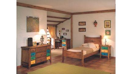 Quarto completo r stico moveis e decora o de interiores for Mobilia anos 60