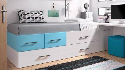 Camas juvenis e de crian a com v rias cores e medidas for Medidas cama juvenil