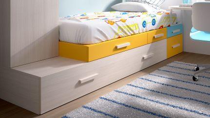 Cama h 204 ao melhor pre o na gra a interiores camas for Medidas cama juvenil