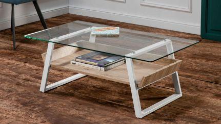 Mesa de centro niza ao melhor pre o na gra a interiores - Mesa centro de cristal ...