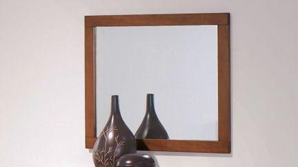 Espelho Tróia Pinho Escurecido