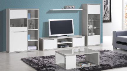 Sala de Estar Viena Cinza/ Branco