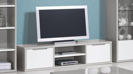 Móvel TV Viena Cinza/ Branco