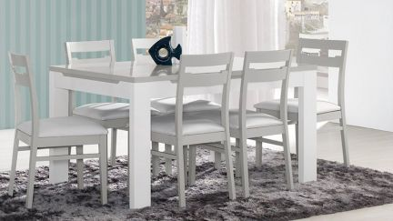 Mesa de Jantar Viena Cinza/ Branco