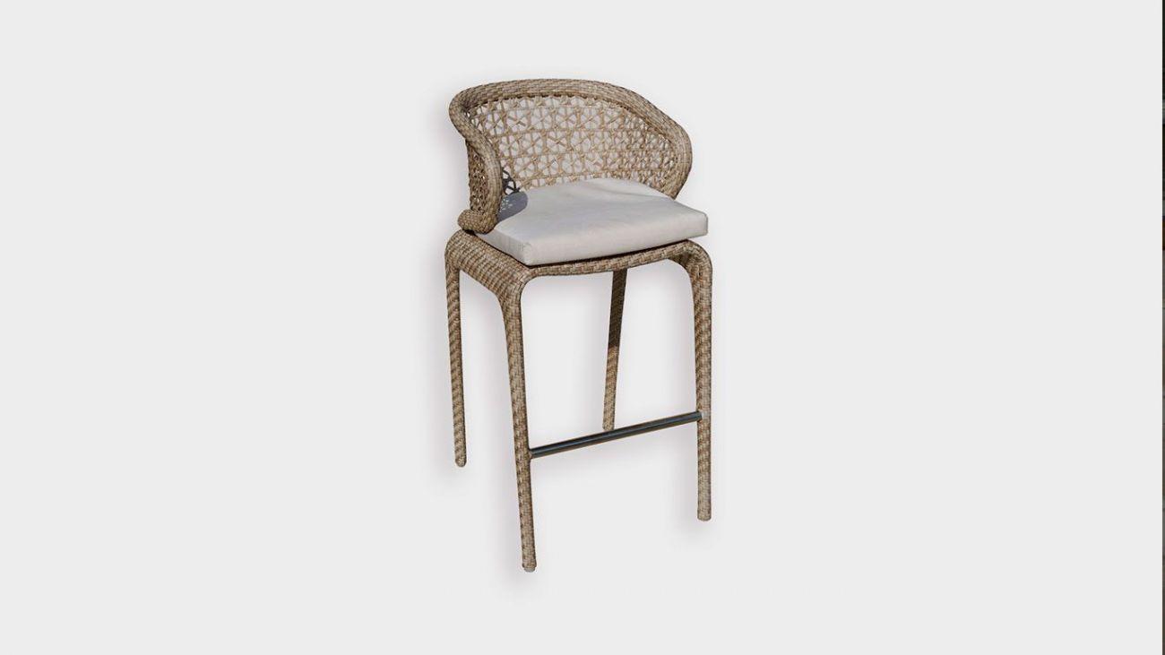 Cadeira Bar Journey, Mesas de Jardim, feito à mão na indonésia. Resistente à abrasão altomsférica. Melhor qualidade existente para produtos de exterior. Mobiliário de Jardim de Luxo. Luxury Outdoor Furniture