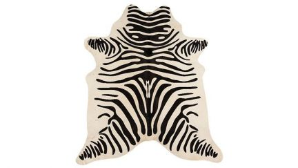 Tapete Rodeo Cowhide Zebra Branco