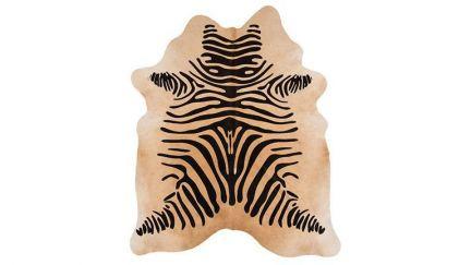 Tapete Rodeo Cowhide Zebra Bege