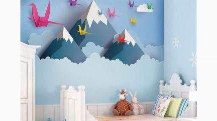 Poster Origami Mountains