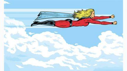 Poster Superheroine Flying
