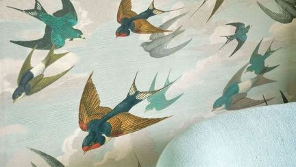 Papel Parede Chimney Swallows