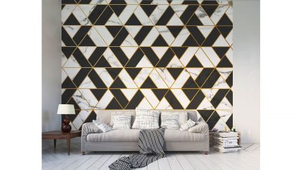 Poster Marble Textured Geometric