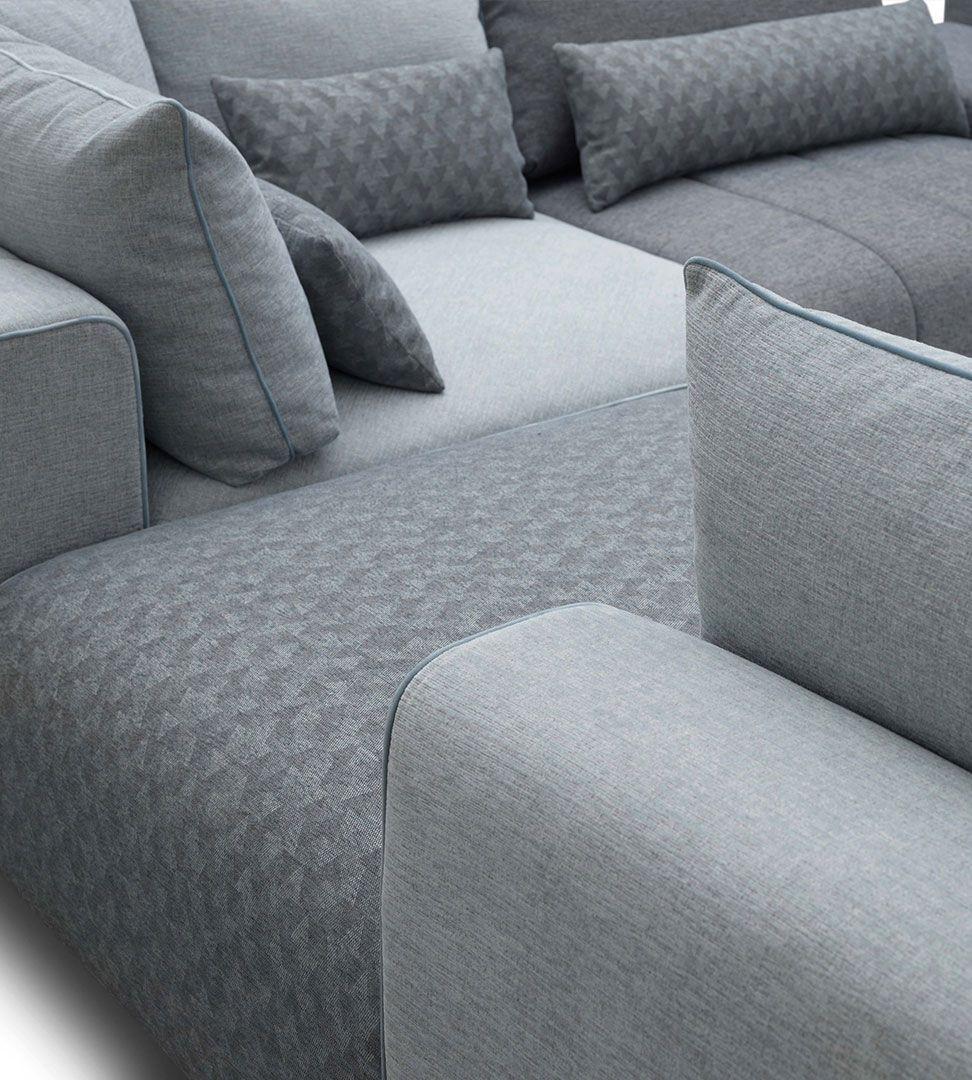 Sofá Square, Sofa Chaise Longue Graca Interiores