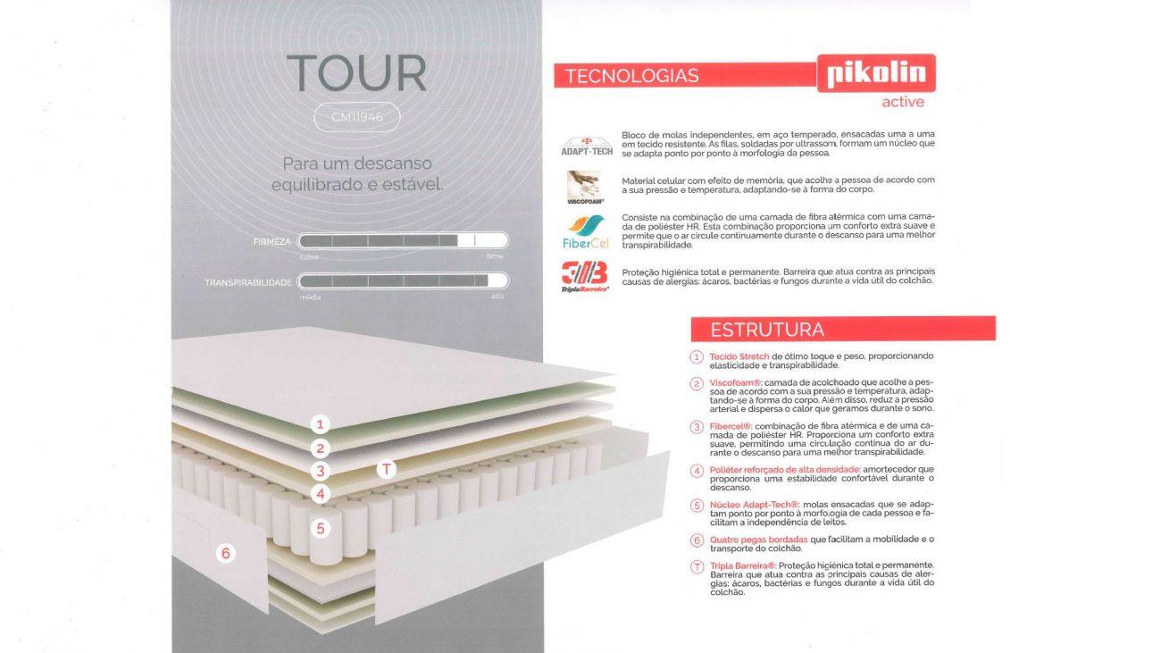 Colchão Tour, Colchões Molas Pikolin