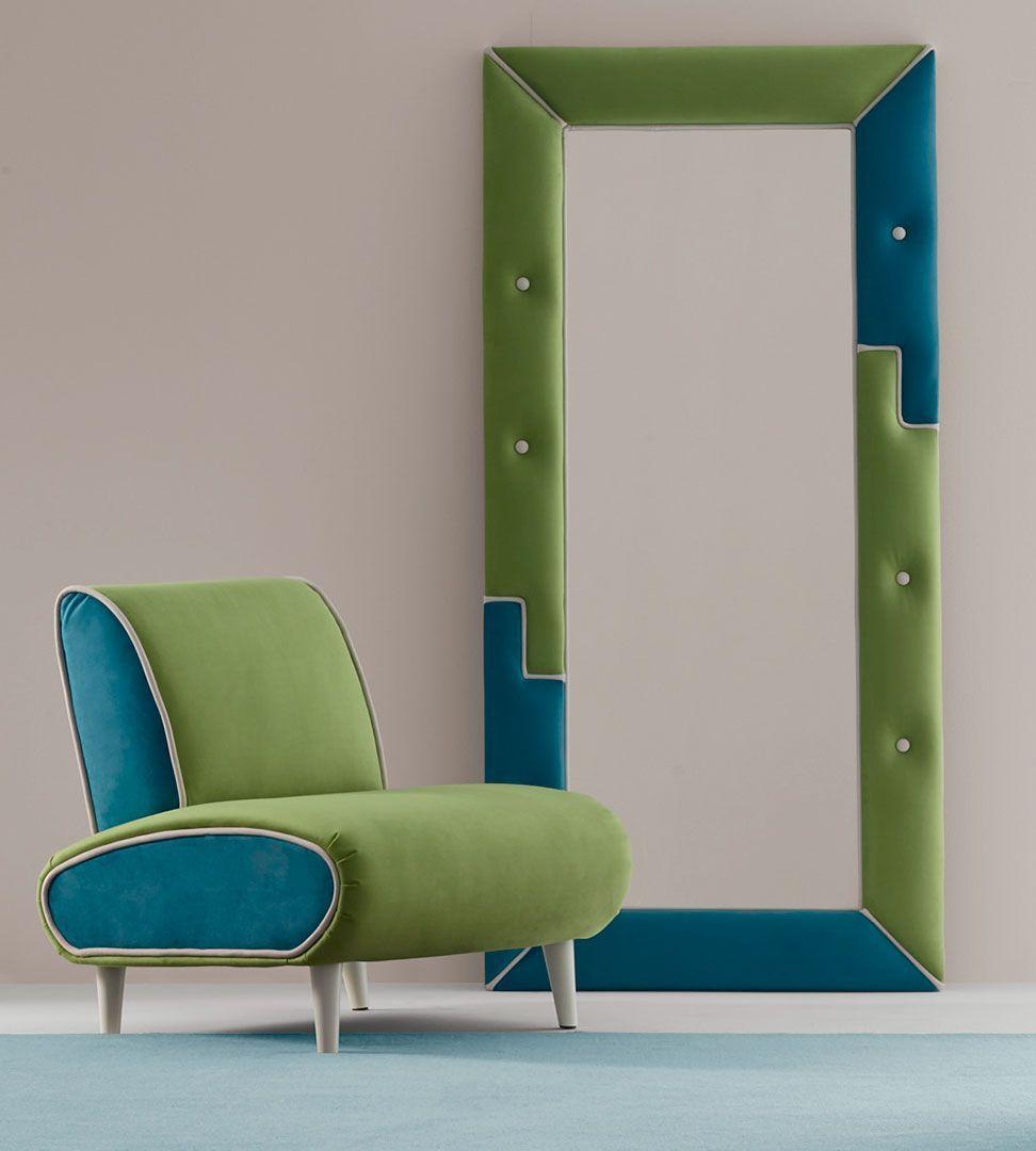 Espelho Estofado Spirit KS, Espelhos de Quartos Graça Interiores